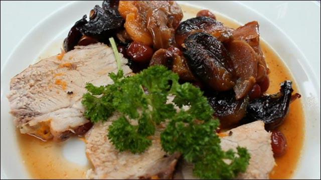 Ароматное мясо с сухофруктами