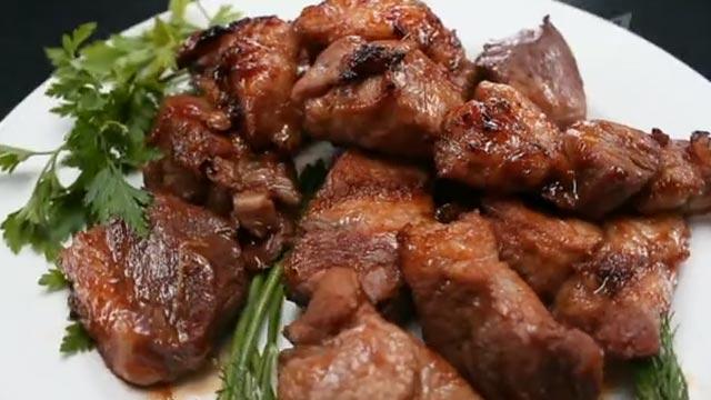 Шашлык из свинины с имбирем