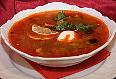Солянка на томатном соке