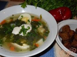 Суп луковый со шпинатом