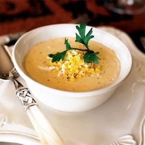 Крем-суп из картофеля с мясом краба