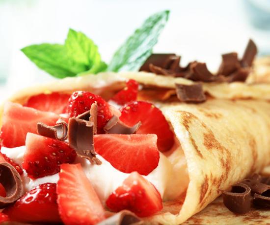 Десерт с блинчиками