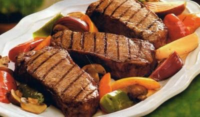 Сладкое мясо жареное