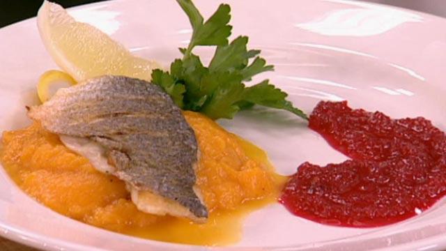 Жаркое из рыбы с тыквой