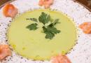 Крем-суп из спаржи с лососем