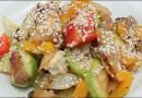 Теплый салат из жареных овощей