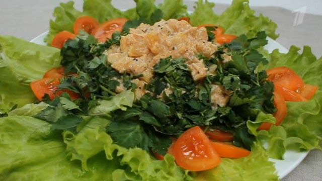 Салат «Тропический картофель»