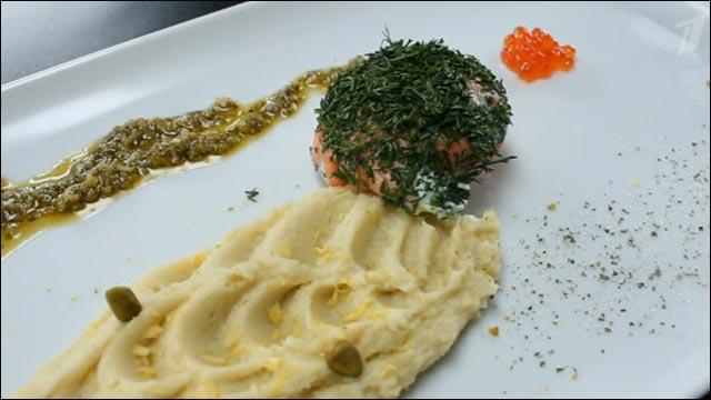Шарики из лосося со шпинатом