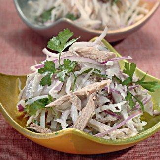 Русский салат с редькой