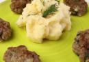 Картошка–толченка с котлетой