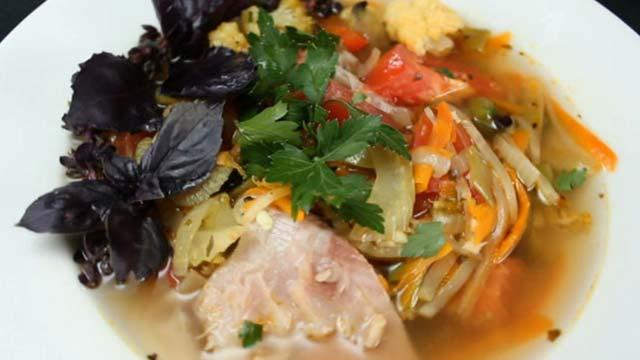 Суп из телятины овощами